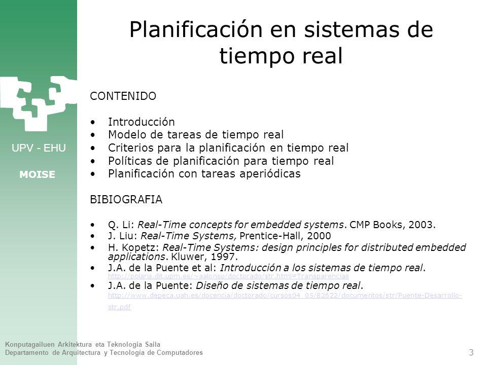 Planificación en sistemas de tiempo real
