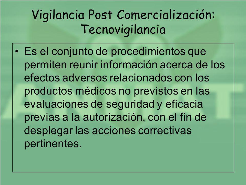 Vigilancia Post Comercialización: Tecnovigilancia