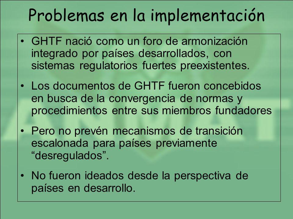 Problemas en la implementación