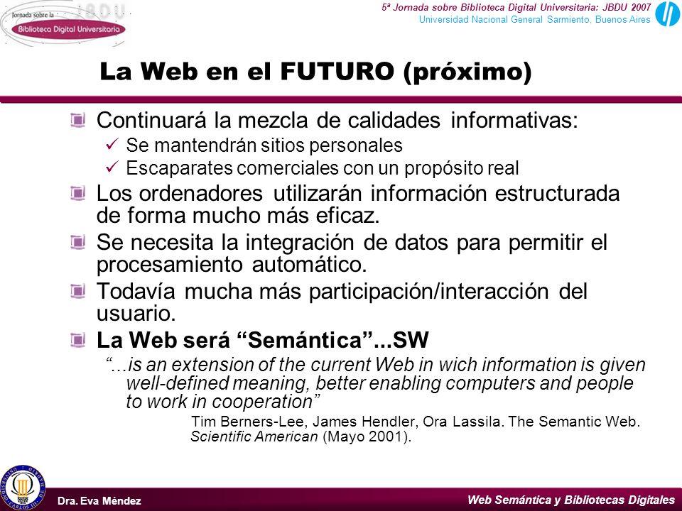 La Web en el FUTURO (próximo)