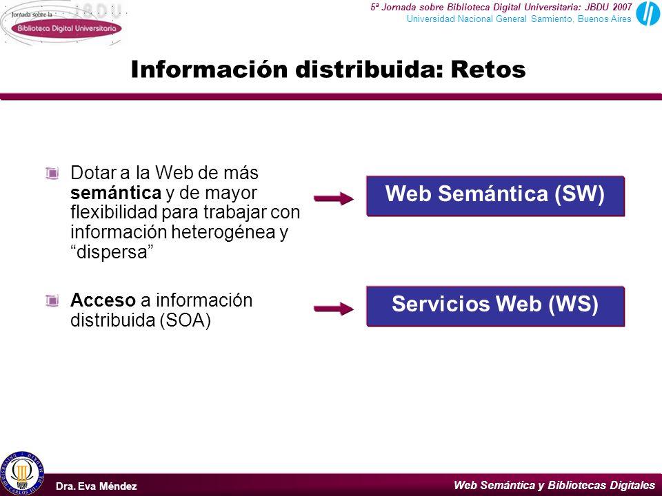Información distribuida: Retos