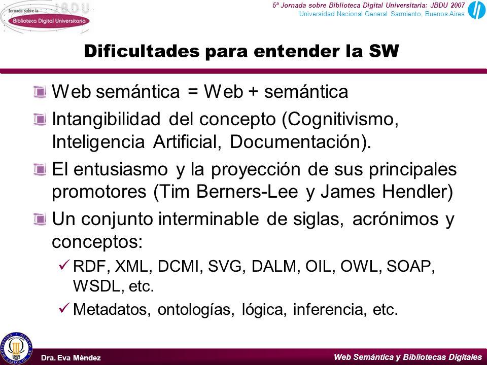 Dificultades para entender la SW