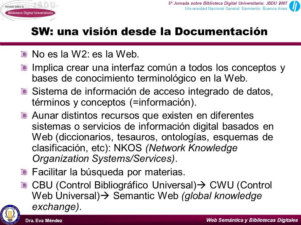 SW: una visión desde la Documentación