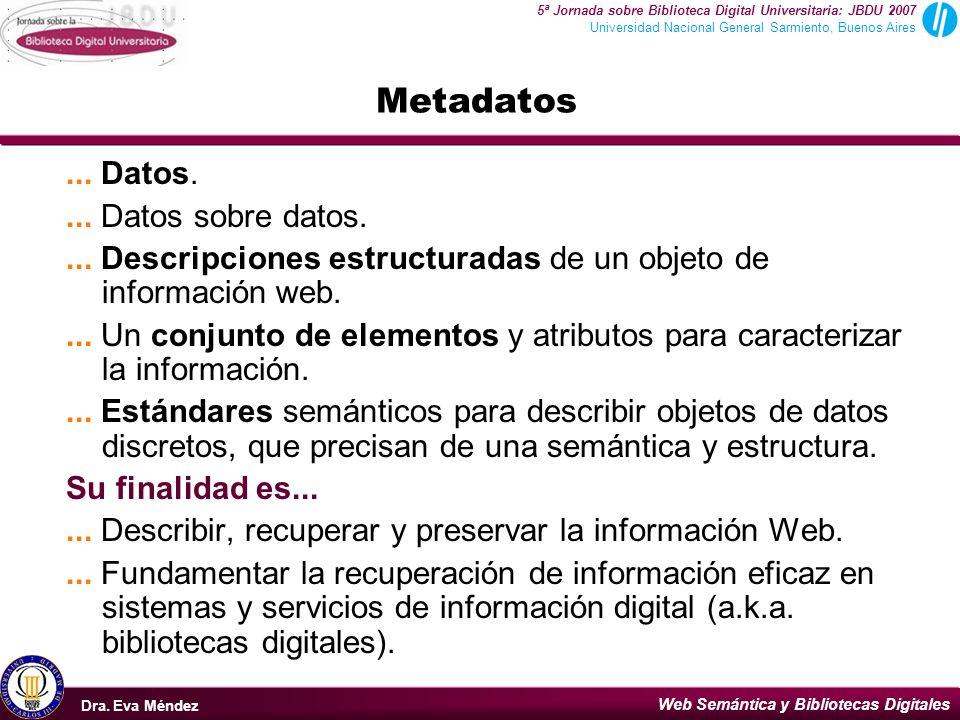 Web Semántica y Bibliotecas Digitales