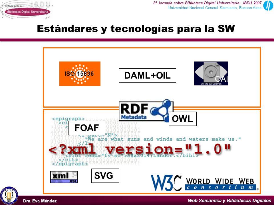 Estándares y tecnologías para la SW