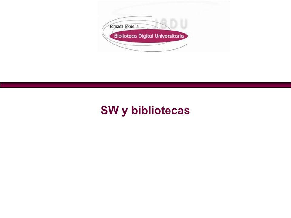 SW y bibliotecas