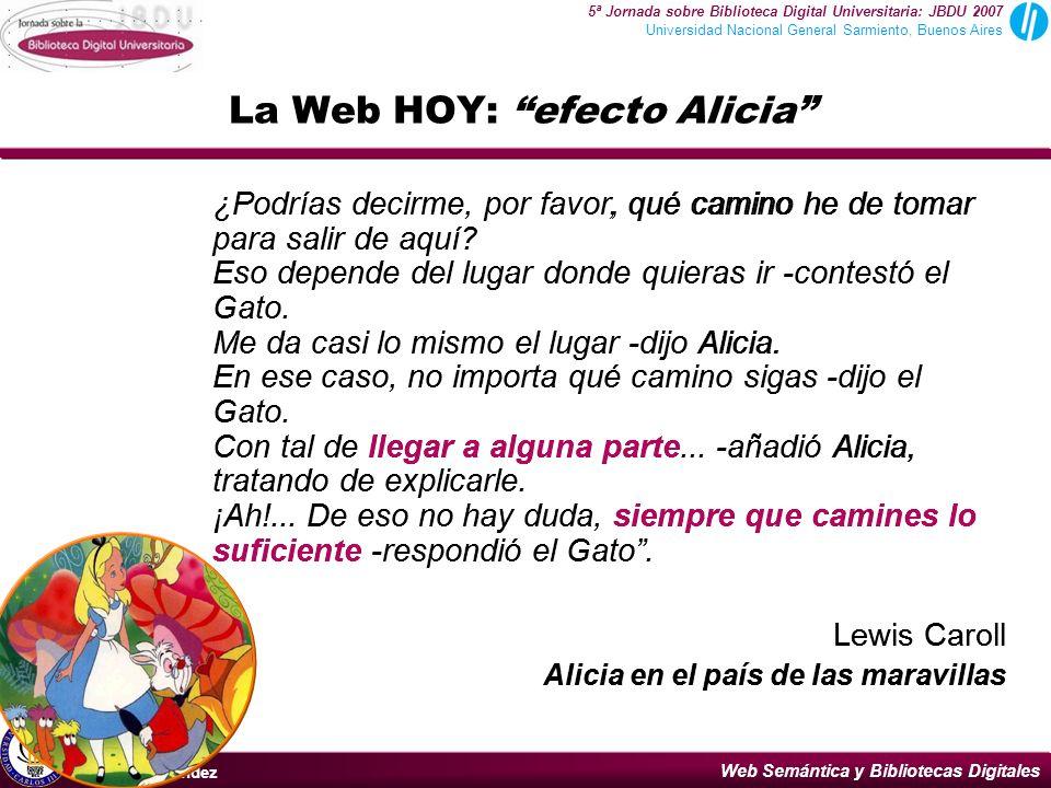 La Web HOY: efecto Alicia
