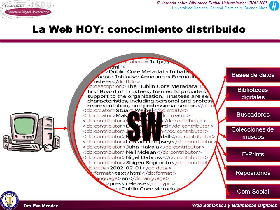 La Web HOY: conocimiento distribuido
