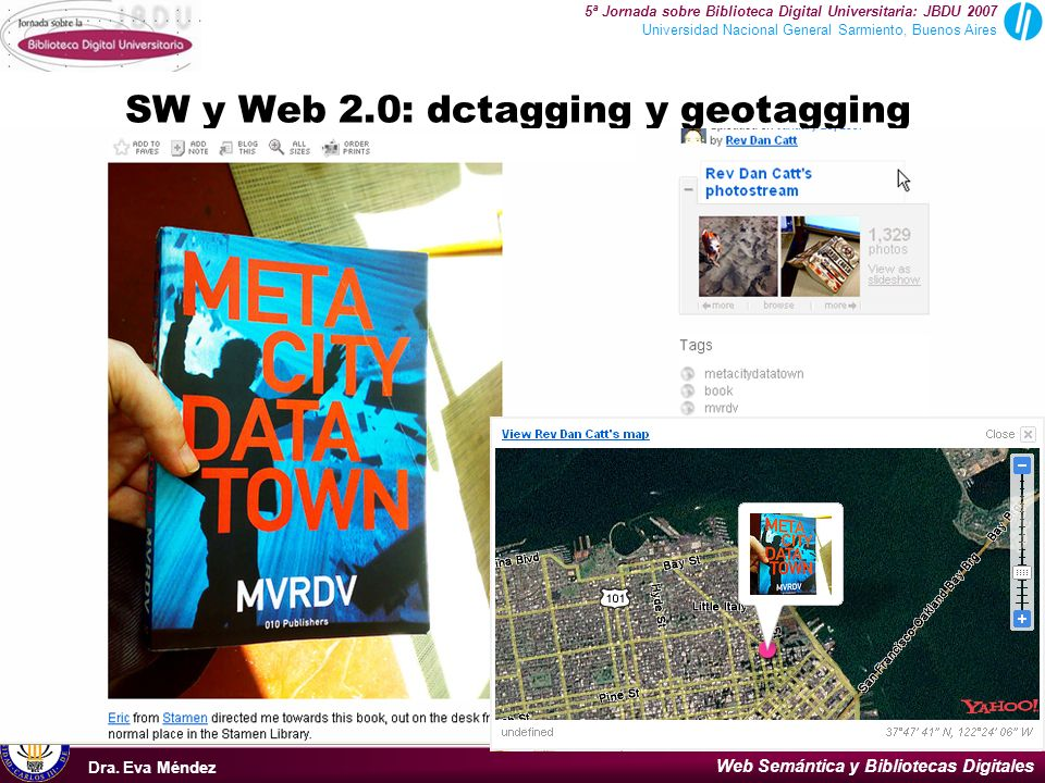 SW y Web 2.0: dctagging y geotagging