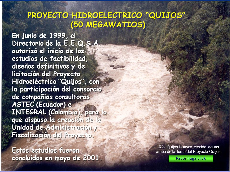 PROYECTO HIDROELECTRICO QUIJOS