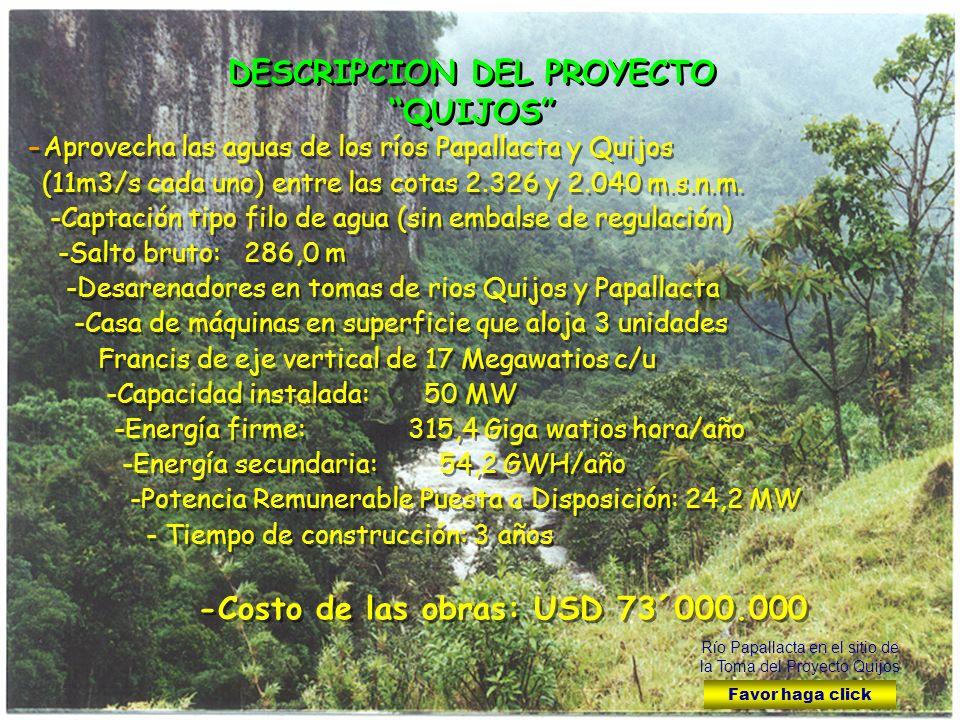 DESCRIPCION DEL PROYECTO QUIJOS