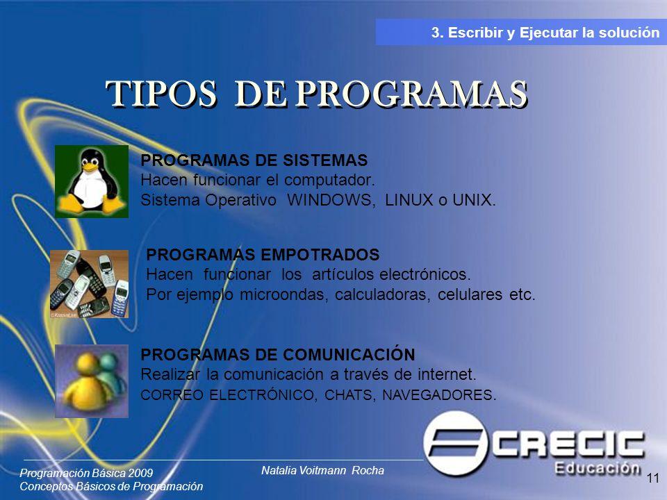 TIPOS DE PROGRAMAS PROGRAMAS DE SISTEMAS