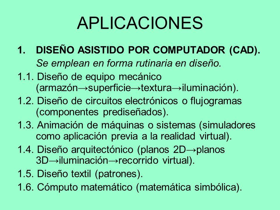 APLICACIONES DISEÑO ASISTIDO POR COMPUTADOR (CAD).