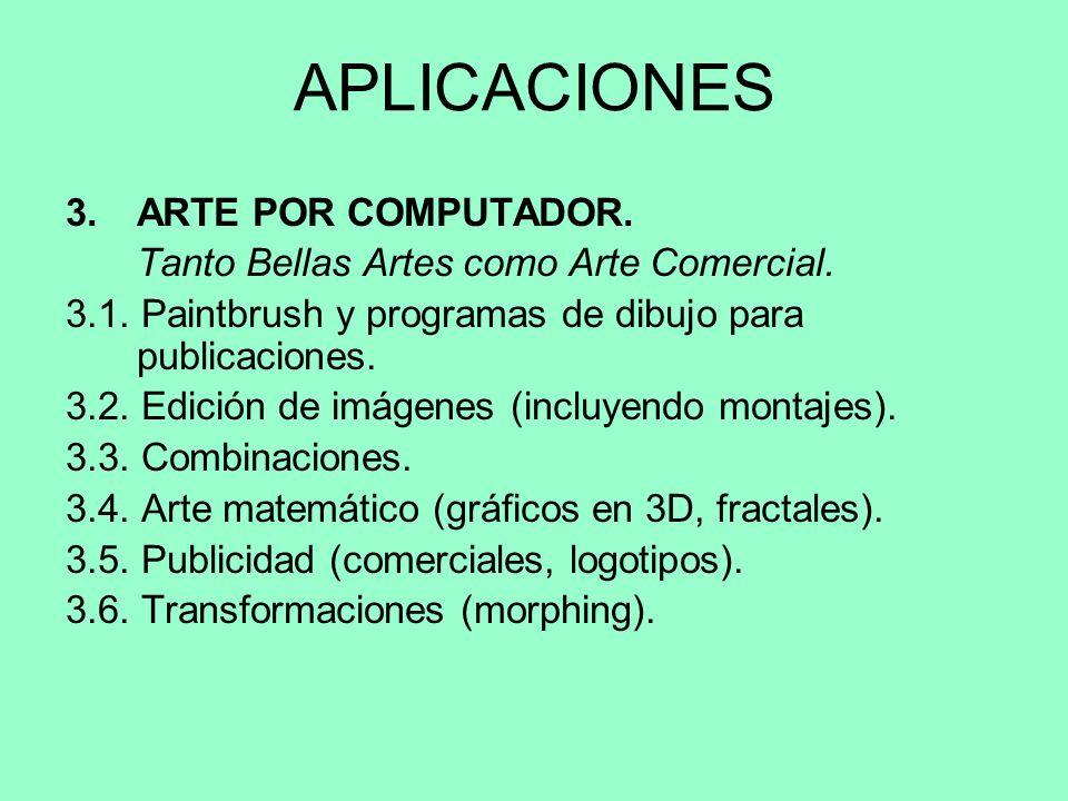 APLICACIONES 3. ARTE POR COMPUTADOR.
