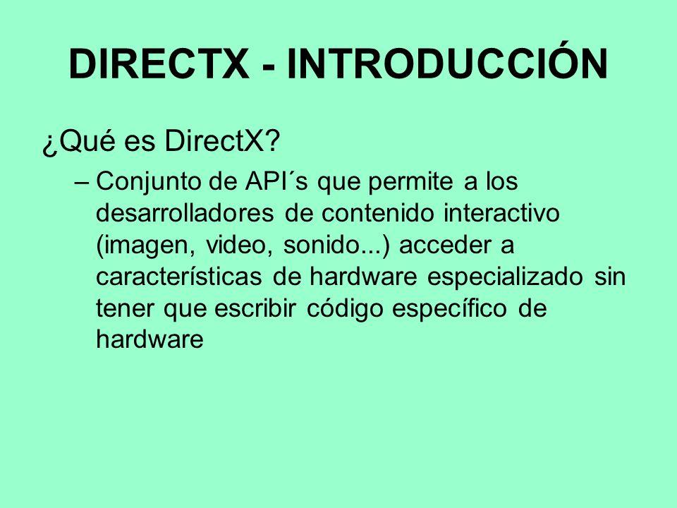 DIRECTX - INTRODUCCIÓN