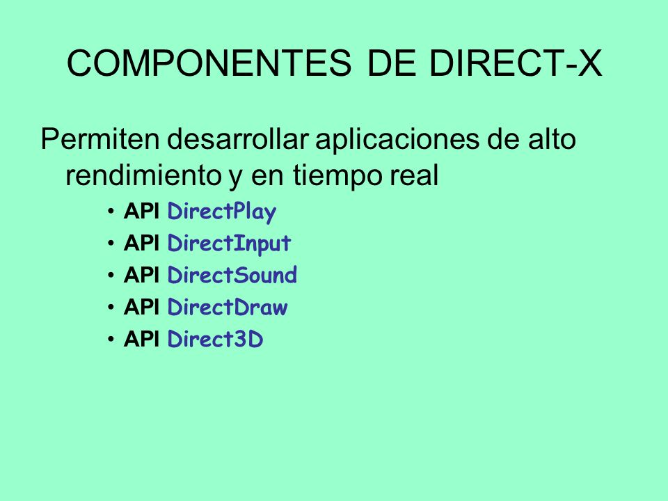 COMPONENTES DE DIRECT-X