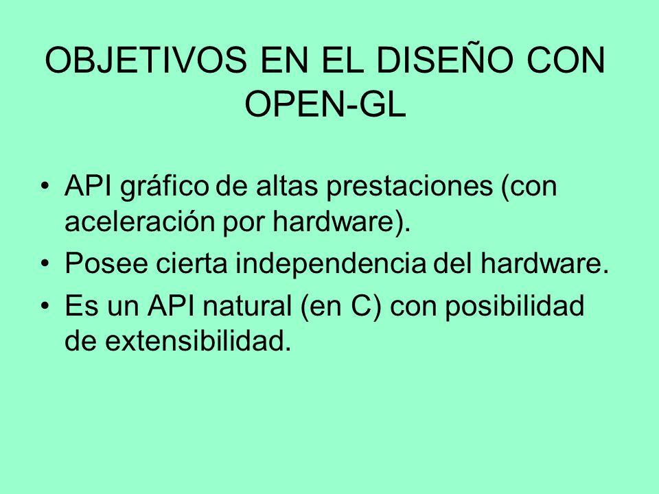 OBJETIVOS EN EL DISEÑO CON OPEN-GL