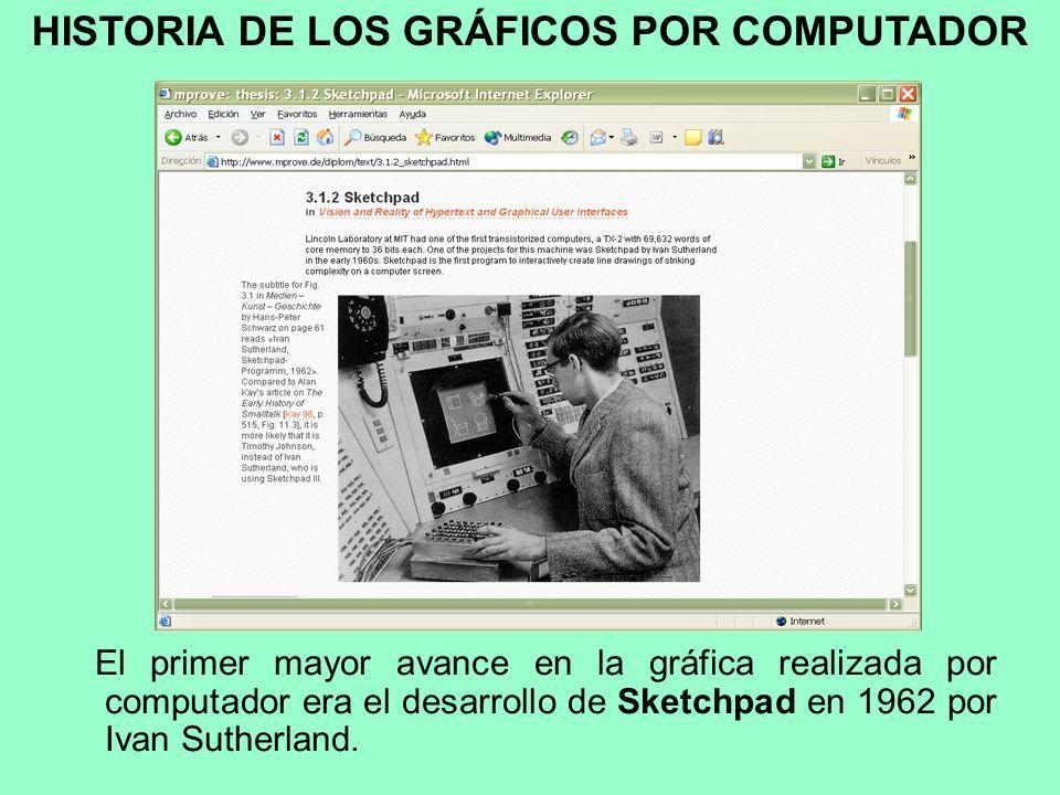 HISTORIA DE LOS GRÁFICOS POR COMPUTADOR