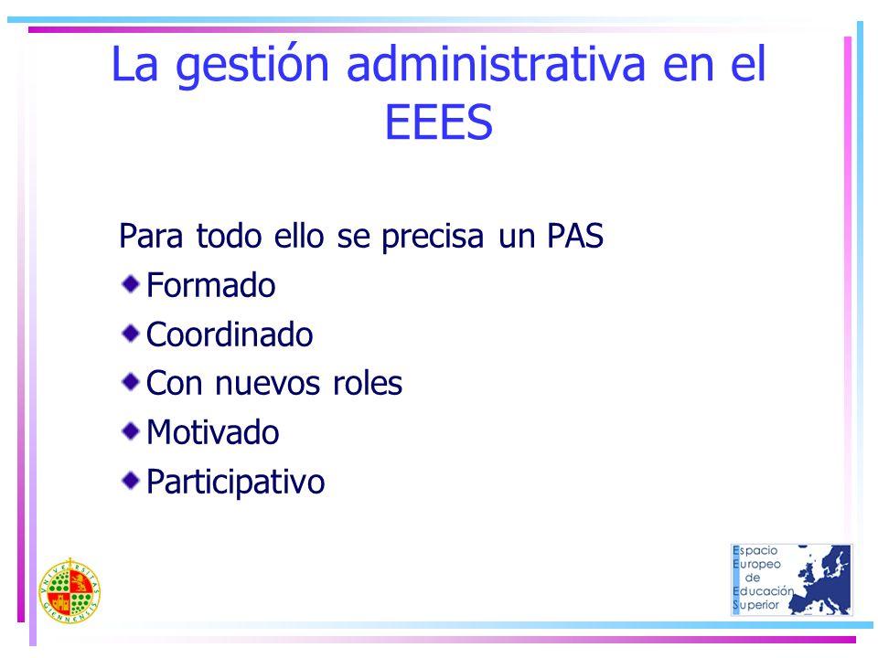 La gestión administrativa en el EEES