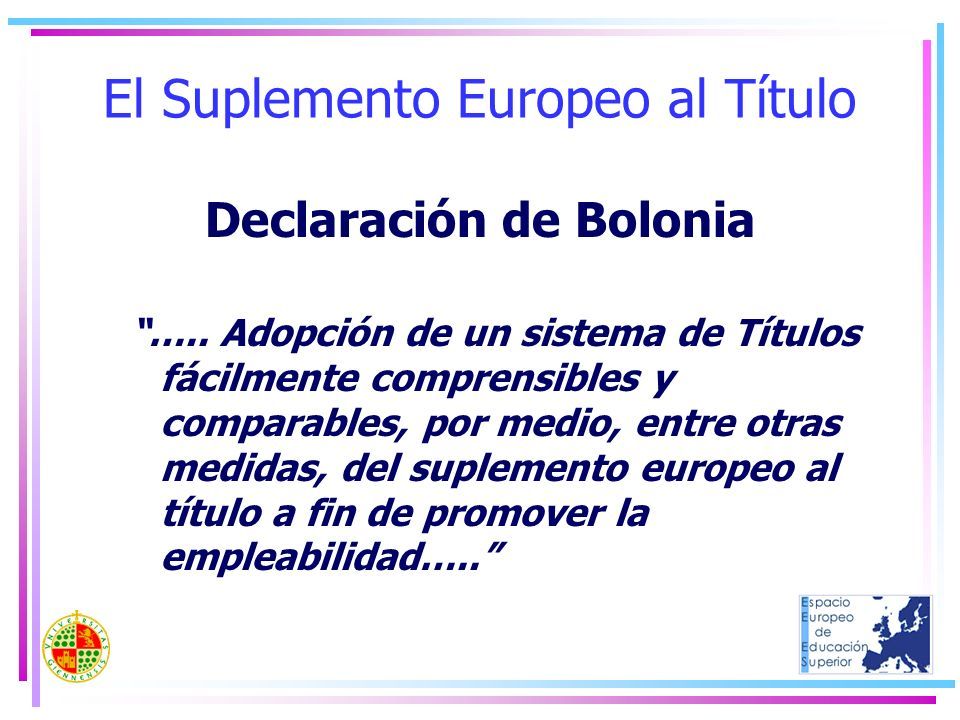 El Suplemento Europeo al Título