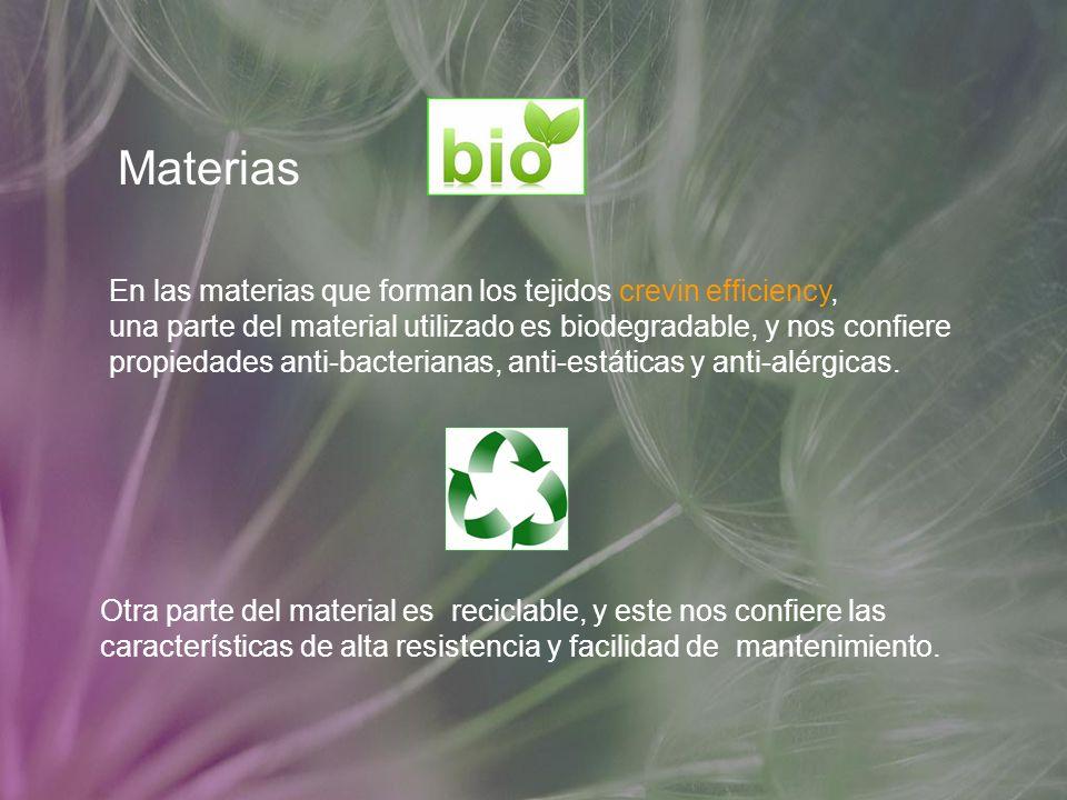 Materias En las materias que forman los tejidos crevin efficiency,