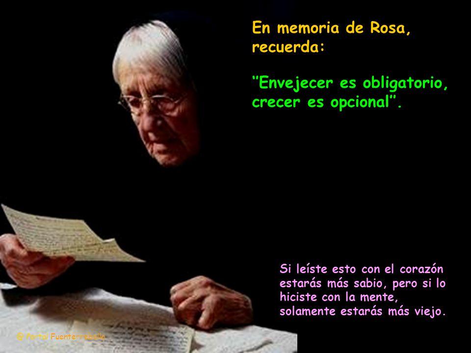 En memoria de Rosa, recuerda: