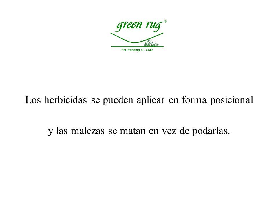 Los herbicidas se pueden aplicar en forma posicional