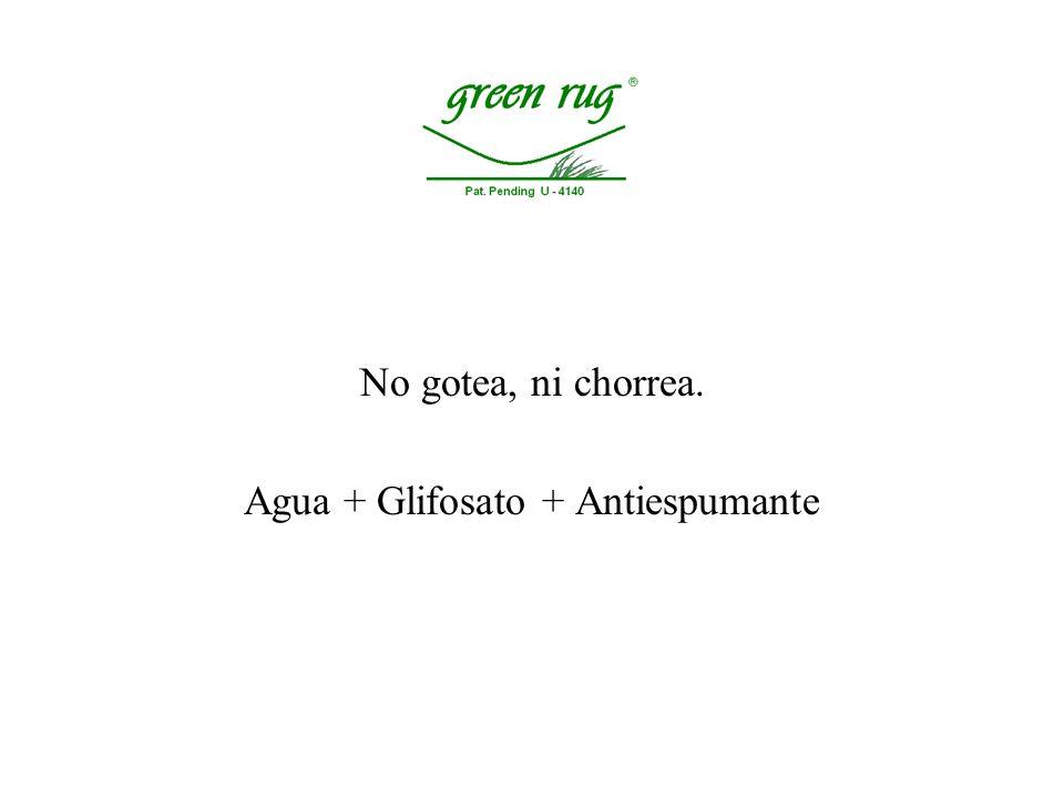 Agua + Glifosato + Antiespumante