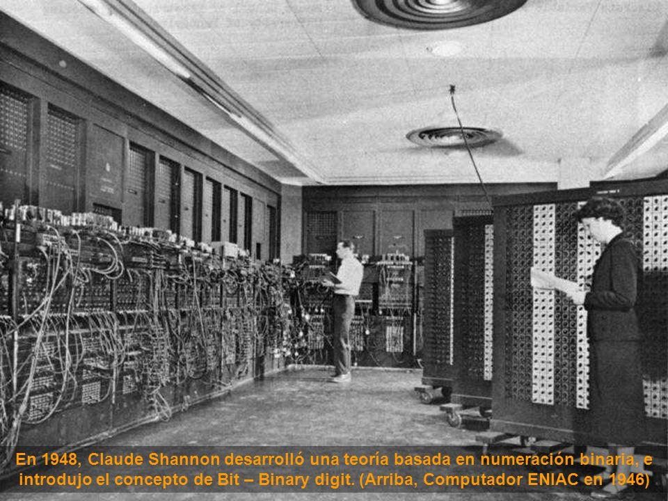 En 1948, Claude Shannon desarrolló una teoría basada en numeración binaria, e introdujo el concepto de Bit – Binary digit.
