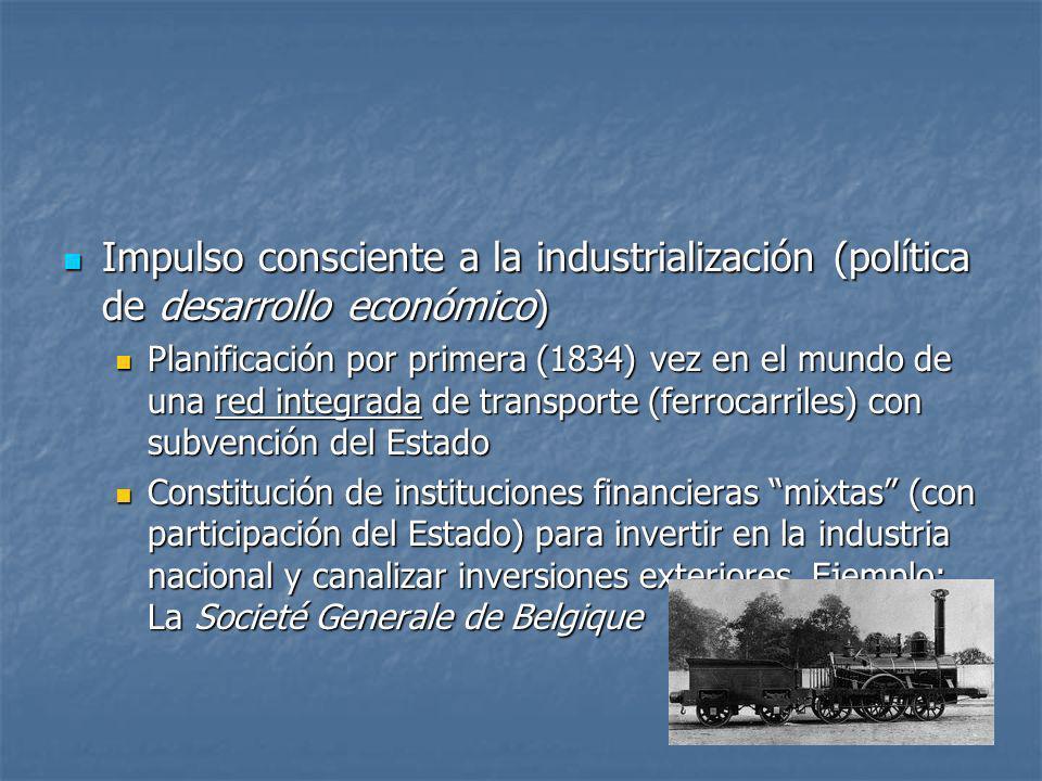 Impulso consciente a la industrialización (política de desarrollo económico)