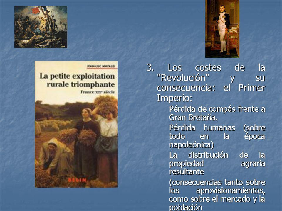 3. Los costes de la Revolución y su consecuencia: el Primer Imperio:
