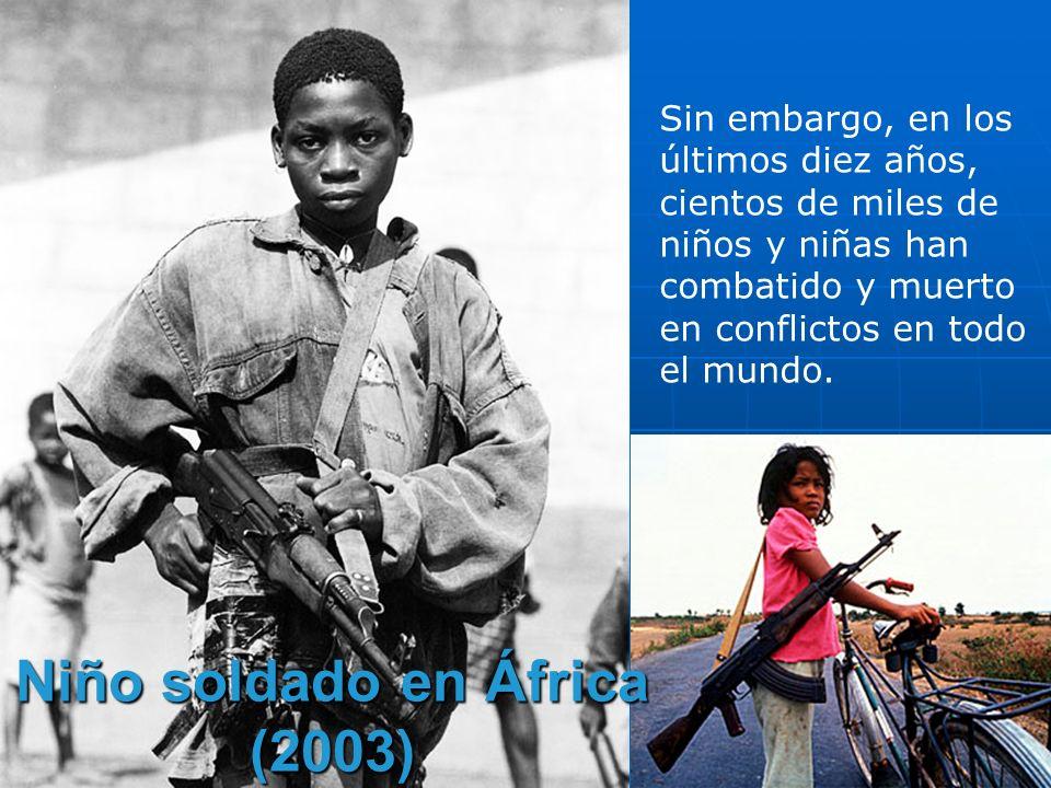 Niño soldado en África (2003)