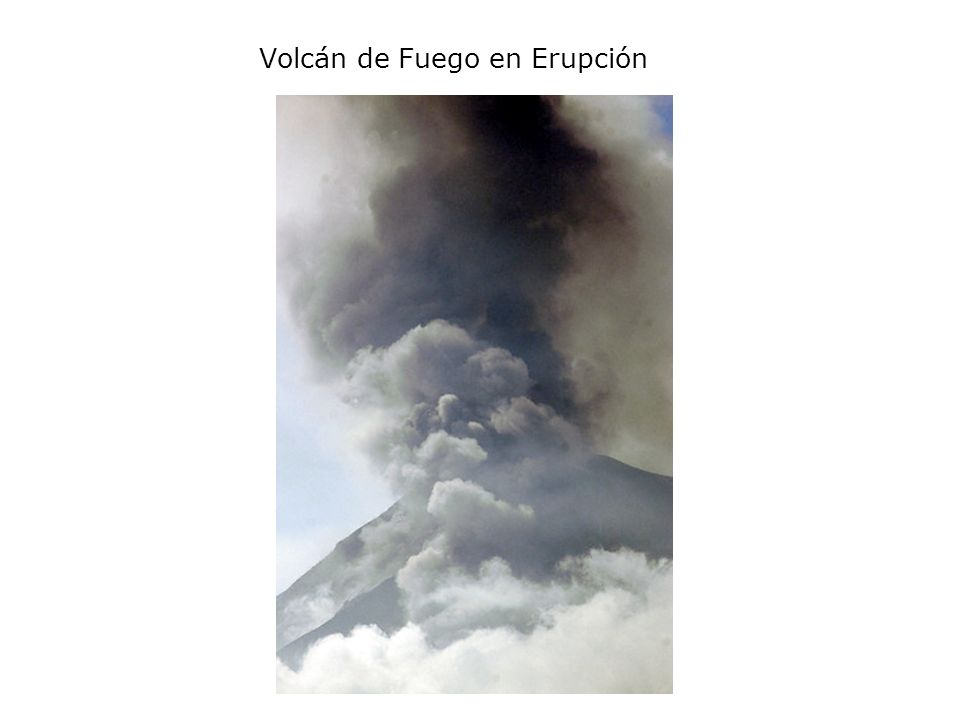 Volcán de Fuego en Erupción