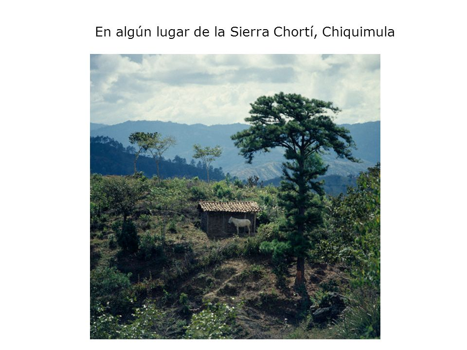 En algún lugar de la Sierra Chortí, Chiquimula