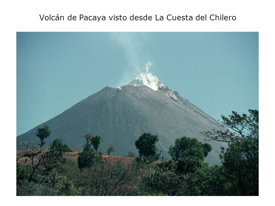 Volcán de Pacaya visto desde La Cuesta del Chilero