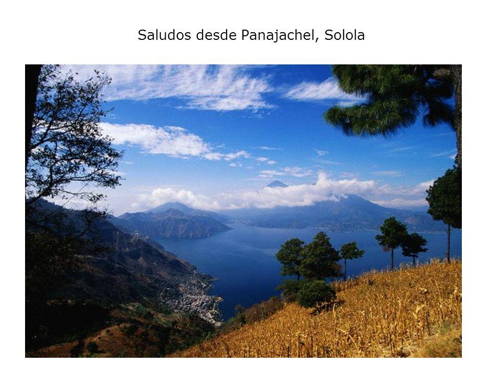 Saludos desde Panajachel, Solola