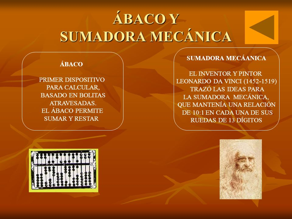 ÁBACO Y SUMADORA MECÁNICA