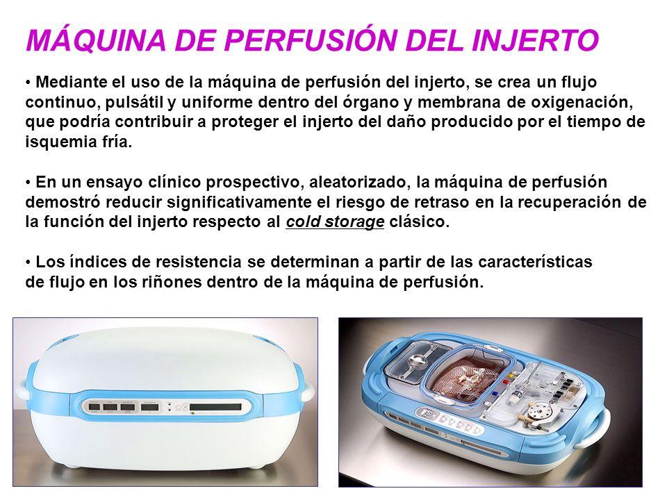 MÁQUINA DE PERFUSIÓN DEL INJERTO