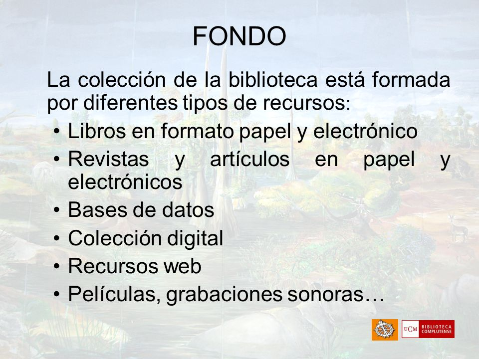 FONDO Libros en formato papel y electrónico