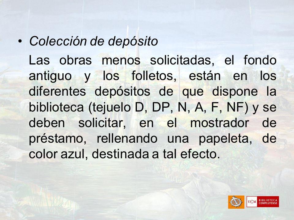 Colección de depósito