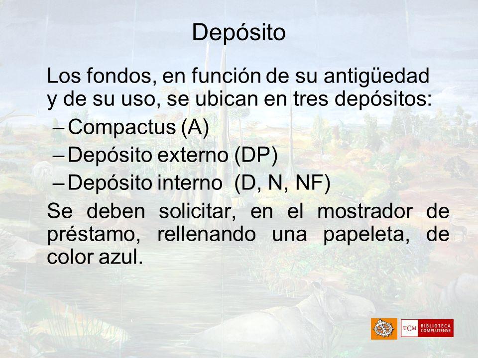 Depósito Compactus (A) Depósito externo (DP)