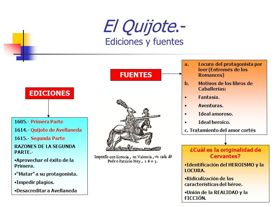 El Quijote.- Ediciones y fuentes