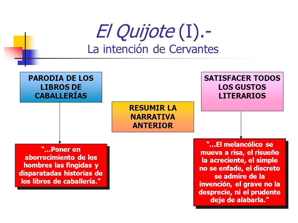 El Quijote (I).- La intención de Cervantes