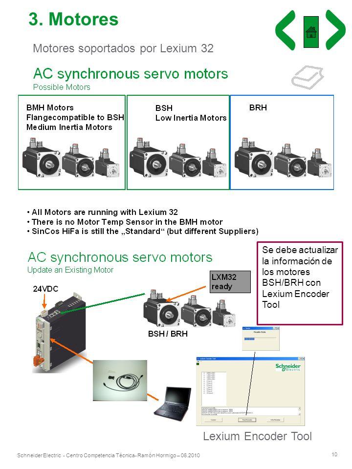 3. Motores Motores soportados por Lexium 32 Lexium Encoder Tool