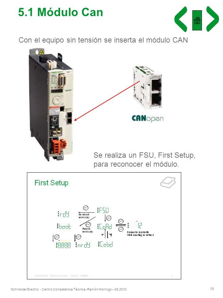 5.1 Módulo Can Con el equipo sin tensión se inserta el módulo CAN