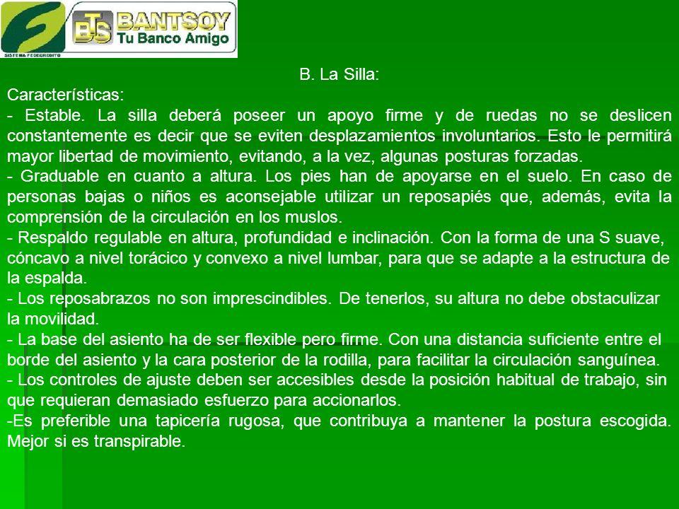 B. La Silla: Características: