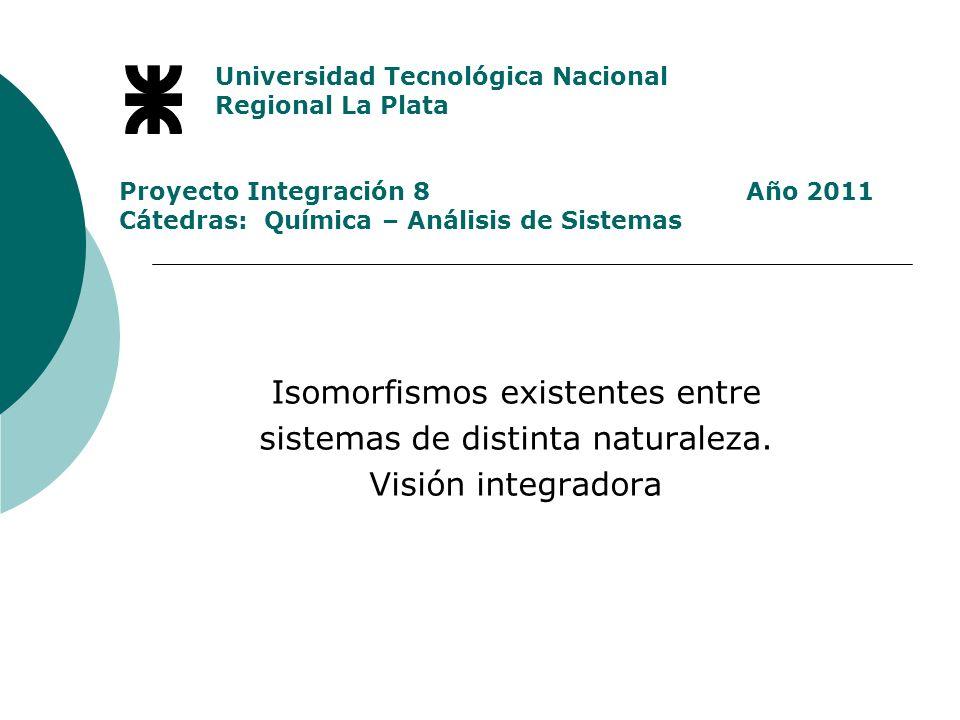 Isomorfismos existentes entre sistemas de distinta naturaleza.