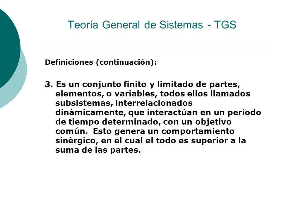 Teoría General de Sistemas - TGS