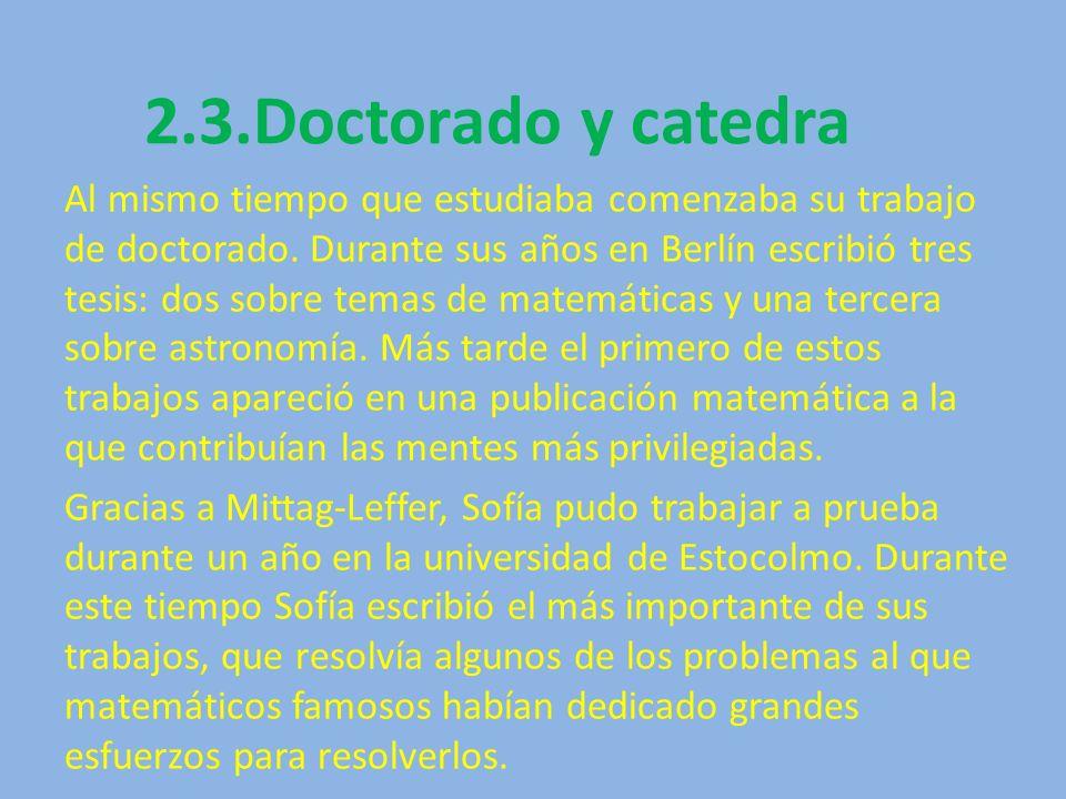 2.3.Doctorado y catedra