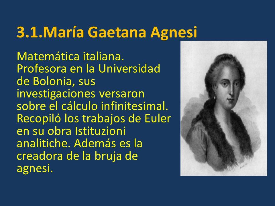 3.1.María Gaetana Agnesi